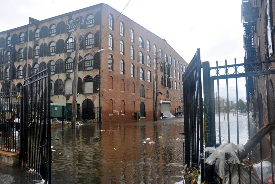Fairway under water from Sandy