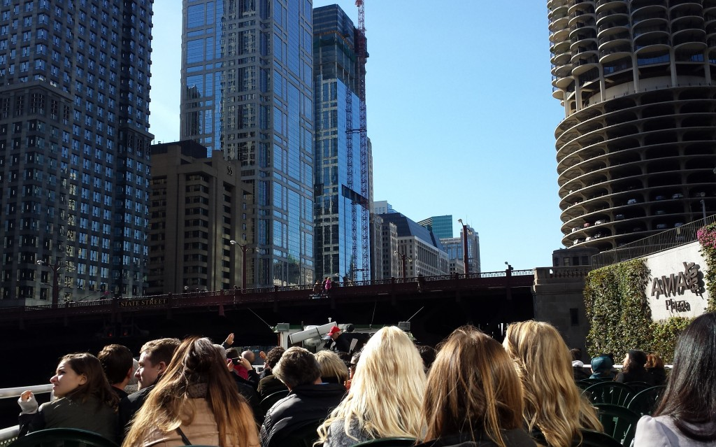 On the Chicago Architectural Boat Tour